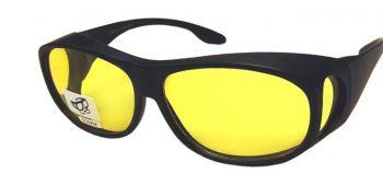 Fitover Glasses - Yellow Lenses NON-Prescription-FitoverYlw