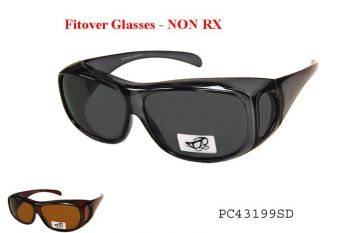 Fitover Glasses -Fitover Smoke Gray and gray lenses