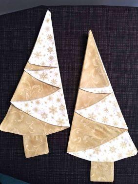 Festive Tree Napkins-Gold
