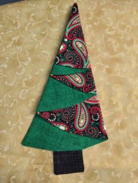 Festive Tree Napkins-Green Paisley