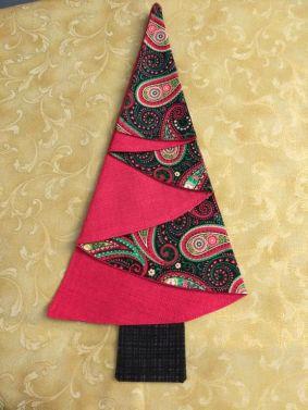 Festive Tree Napkins-Red Paisley