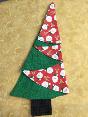 Festive Tree Napkins-Green Santa