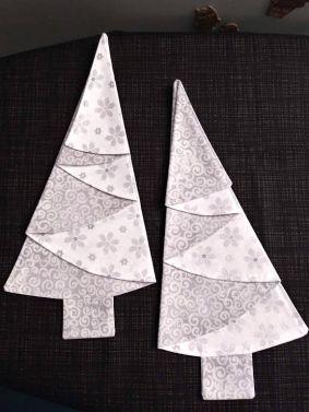 Festive Tree Napkins-Silver