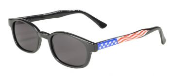 KD's Original  X-RX - Polished Black  With American Flag-FREE FRAME WITH RX LENSES